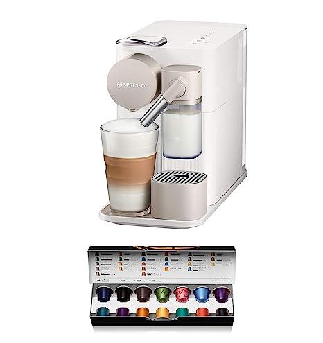 Nespresso DeLonghi Lattissima One EN500W - Cafetera monodosis de cápsulas Nespresso con depósito de leche compacto, 19 bares, apagado automático ...