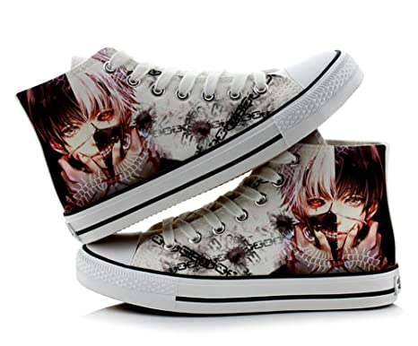 Tokyo Ghoul Kaneki Ken Cosplay Shoes Canvas Shoes Sneakers Colourful 1