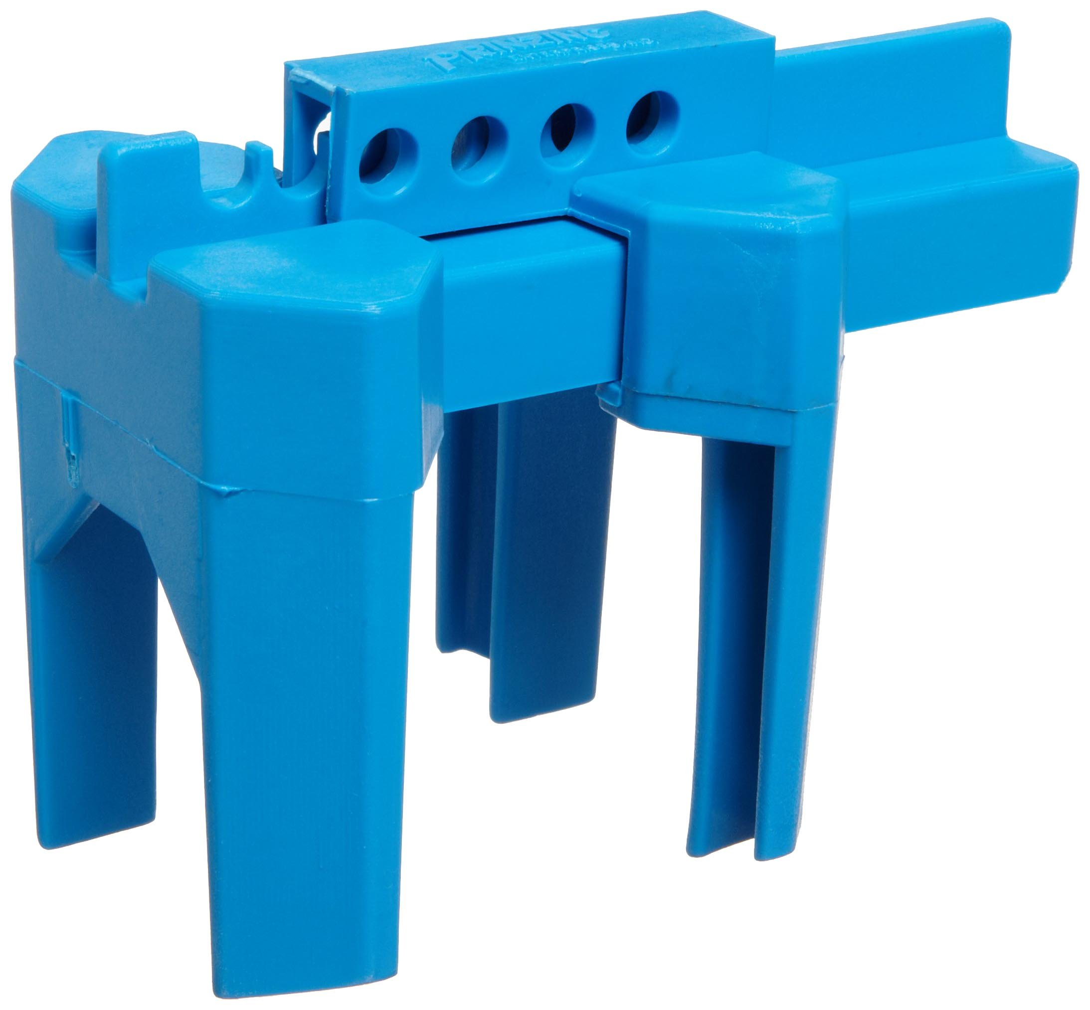 Brady Prinzing Ball Valve Lockout, Small, for 1/2''-2-1/2'' Outside Pipe Diameter, Blue