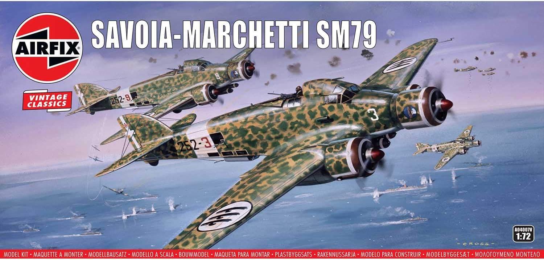 Airfix A04007V 1//72 Savoia-Marchetti SM79 Modellbausatz 72 Scale Sortiert 1