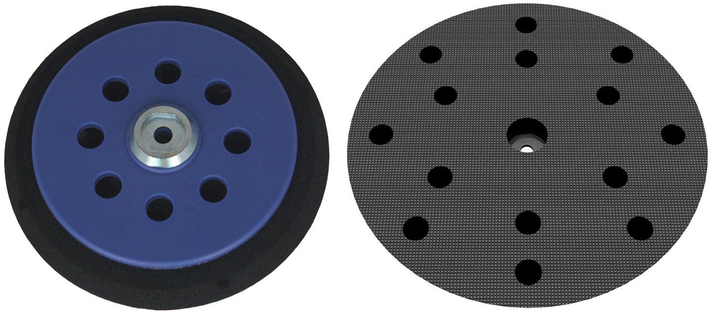 Plato de lija (150 mm de diá metro de 15 orificios –  Para Makita BO6030 BO6040 –  Plato de apoyo (para Velcro abrasivos con 8 + 6 + 1 agujeros aspiració n –