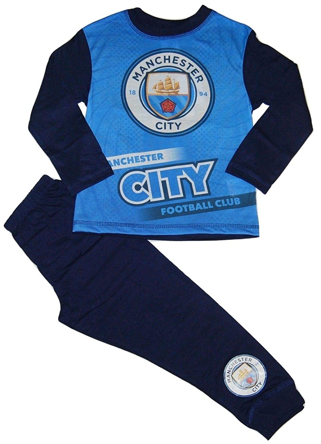 12-18 months up to 3-4 YEARS NEW BOYS MANCHESTER CITY F.C TODDLER PYJAMAS AGES