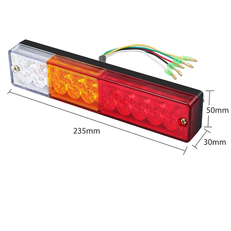 Justech 2 Pcs 20 LED LKW Rückfahrlicht LED Rücklicht Blinker Auto ...