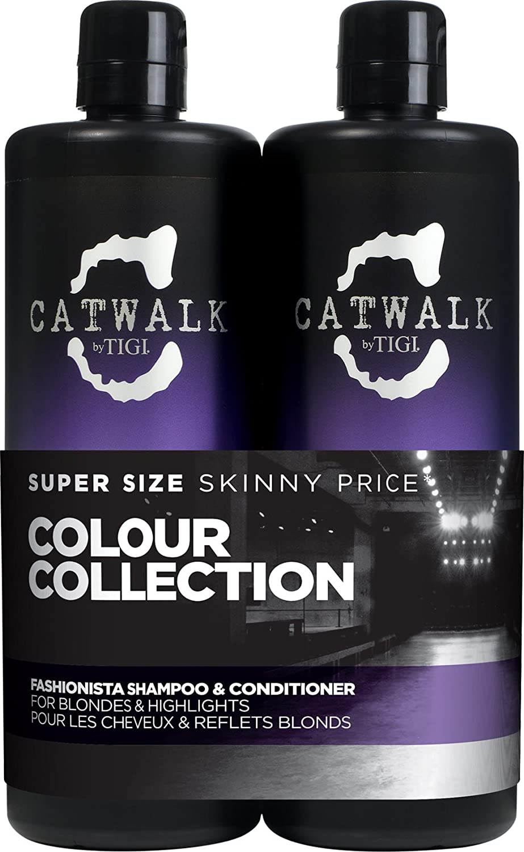 TIGI Catwalk Fashionista Violet Tween Duo Shampoo and Conditioner, 750 ml, Pack of 2 615908950793 FASHIONISTATWEENS