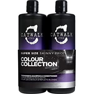 CATWALK by TIGI Fashionista Violet Tween Duo Shampoo and Conditioner for Blonde Coloured Hair 2x750 ml