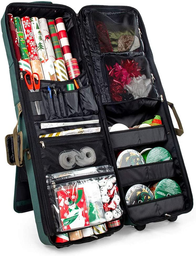 Storage Bag Christmas Tree or Wrapping Paper Gift Rolls Zipped Case