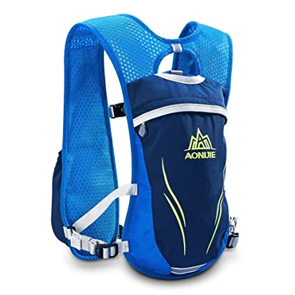 LIBOLI Hydration Pack Backpack 5.5L Hydration Vest Outdoors Marathoner Running Race Hiking Climbing (Blue