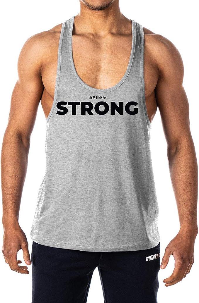 GYMTIER - Camiseta de Tirantes para Hombre, diseño de motivación Fuerte: Amazon.es: Ropa y accesorios
