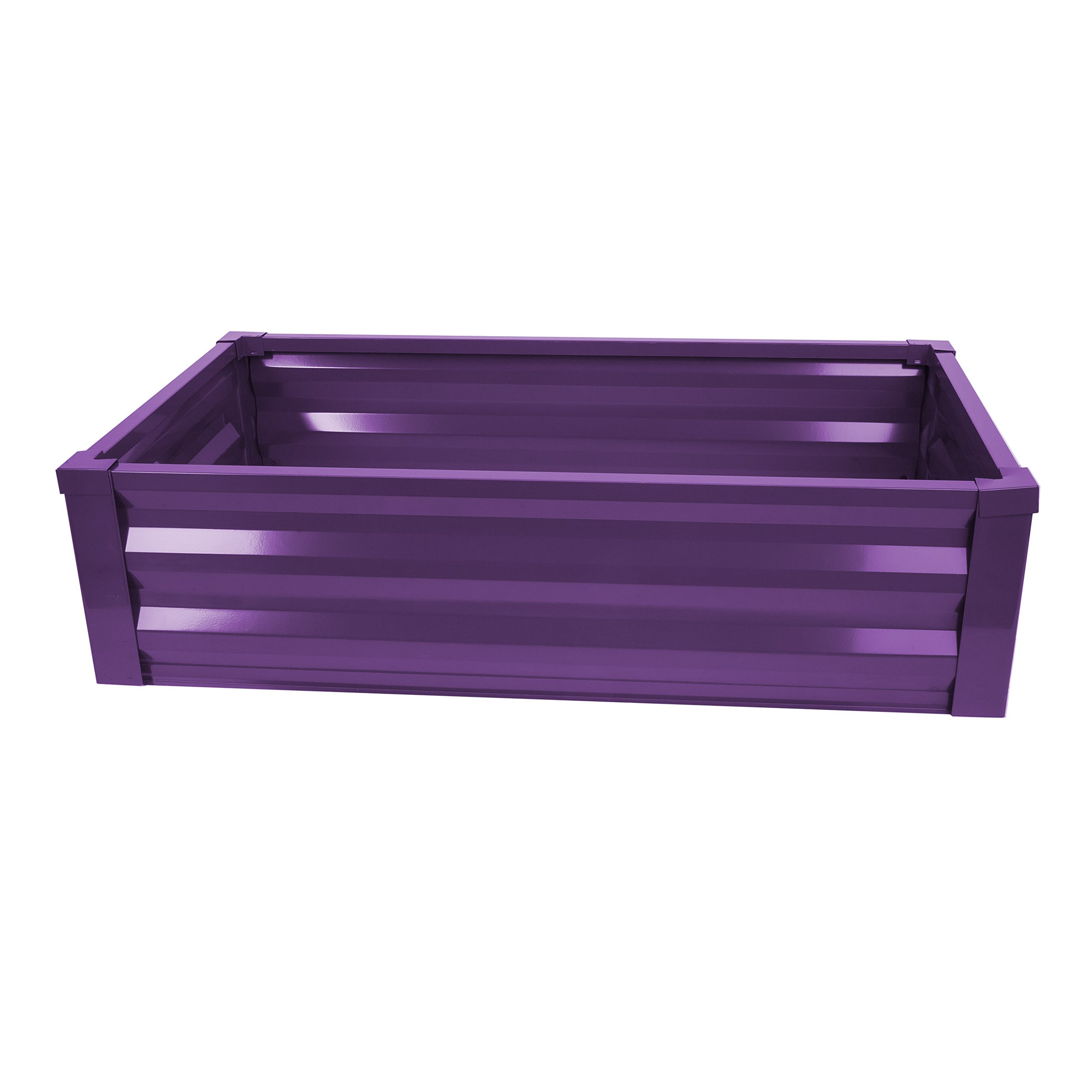 Greenes Fence Powder-Coated Metal Raised Garden Bed Planter 24'' W x 48'' L x 12'' H by Greenes Fence