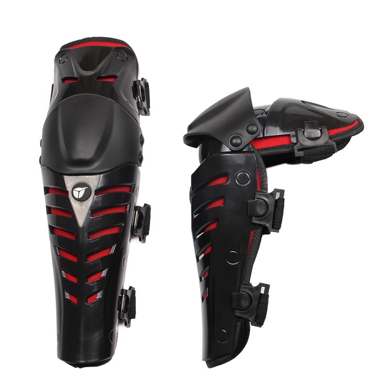 Zyurong® , ginocchiere per moto, ATV, moto fuoristrada, motocross, motoslitta, tutore protettivo per la moto, uomo Donna, Black