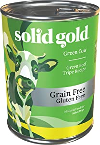 Solid Gold - Green Cow Wet Dog Food - Green Beef Tripe Recipe - All Life Stages & All Sizes - 13.2 oz Can (6Count)