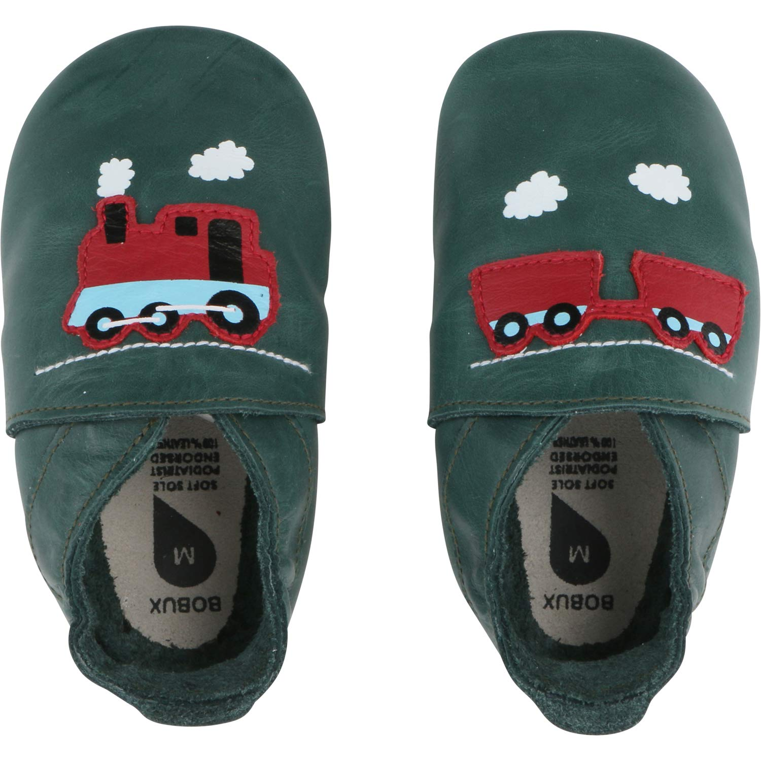 Bobux Train & Carriage Forest Leather Baby Soft Soles
