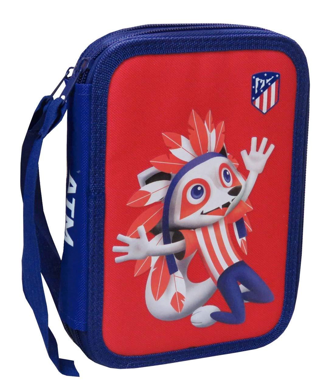Atlético de Madrid Plumier de 2 Pisos con Material Escolar (EP-231 ...