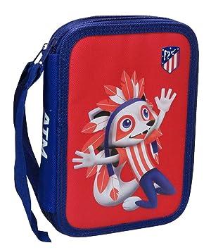 Atlético de Madrid Plumier de 2 Pisos con Material Escolar (EP-231-ATL)