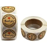 Thank You Stickers Supporting My Small Business Label 1 Inch Round Modern 1000pcs for Envelopes, Gift Bags,envelopes