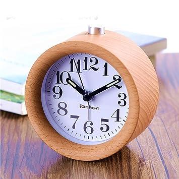 Amazon.com: Small Bedroom Silent Alarm Clock,TOPBRIGHT Creative ...