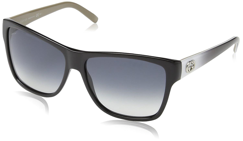 0eccea03fd558 Gucci Sunglasses GG 3579 S L4EJJ Acetate plastic Black - White - Grey  Gradient Grey  Amazon.co.uk  Clothing