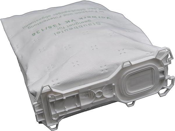12 bolsas de tela para aspiradora compatibles con Vorwerk - Kobold 135 / 136 / 135SC / VK135 / VK136 (Wei): Amazon.es: Hogar