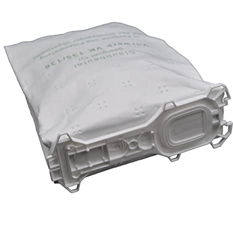 12 bolsas de tela para aspiradora compatibles con Vorwerk - Kobold 135 / 136 / 135SC / VK135 / VK136 (Wei)