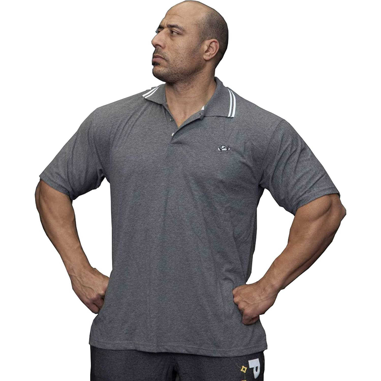 BIG SM EXTREME SPORTSWEAR Herren T-Shirt Stretch Shirt Bodybuilding Gym 2688