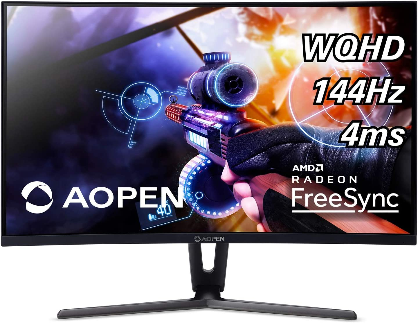 AOPEN 32HC1QUR Pbidpx 31.5-inch 1800R Curved WQHD (2560 x 1440) Gaming Monitor with AMD Radeon FreeSync Technology (Display, HDMI & DVI Ports)