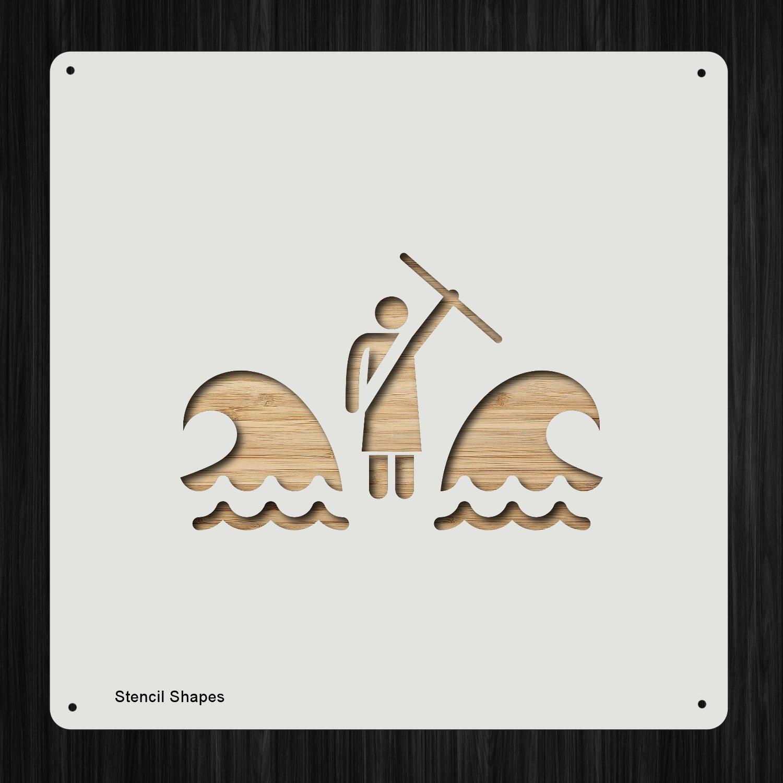 Moses Parts 赤海モセス-パーツ-赤海バイブルモーゼ ミラクルエクソダ プラスチックマイラーステンシル 塗装、壁、工芸品用 51363   B07FP58TJC