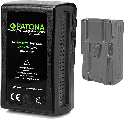Patona Premium V Mount Ersatz Für Akku Sony Bp 190ws Kamera