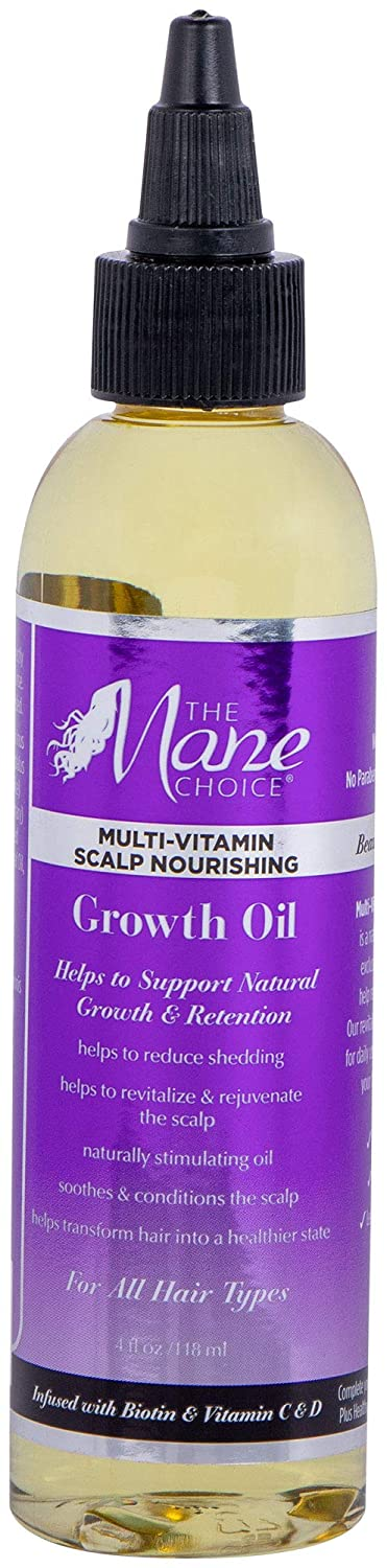 THE MANE CHOICE Hair Growth Oil ( 4 Ounces / 118 Milliliters ) -  Multi-Vitamin Scalp Nourishing Growth Oil Formulated to Stimulate Hair  Growth From