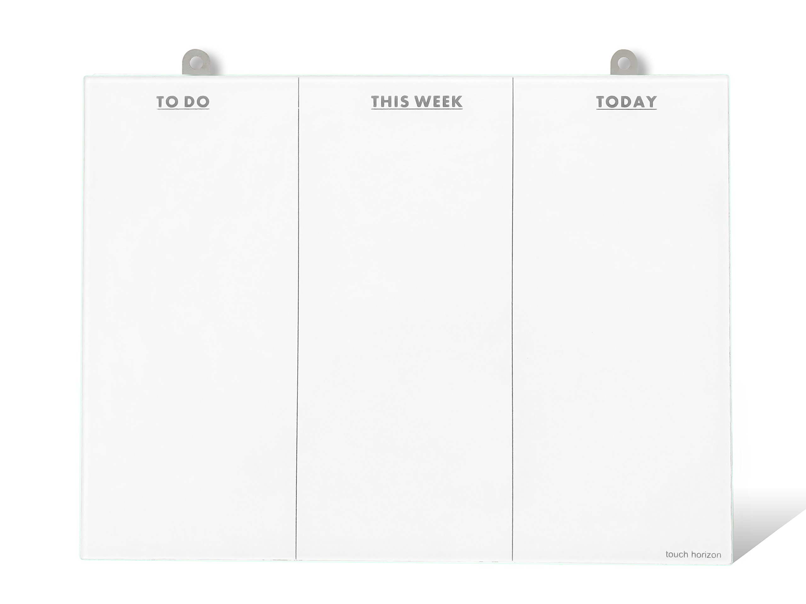 To Do List Glass Whiteboard - Frameless and Erasable - Durable Glass - Office Organizer - to Do List Whiteboard- Perfect for Home or Office (with Metal Tab)