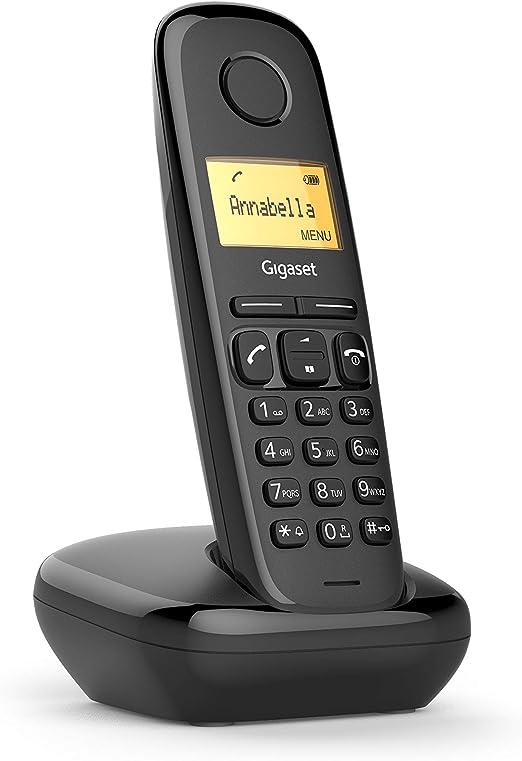 Gigaset A170 - Teléfono Inalámbrico, Pantalla Iluminada, Agenda de 50 Contactos, Color Rojo Coral: Amazon.es: Electrónica