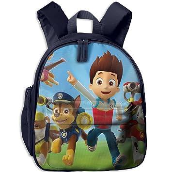 Paw Patrol Chase Wallpaper Fashion And Colorful Kids Kindergarten Backpack Comfortable Shoulder
