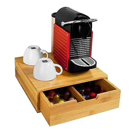 SoBuy FRG70-N,ES Estante cafetera, Soporte para Cápsulas de Café, con