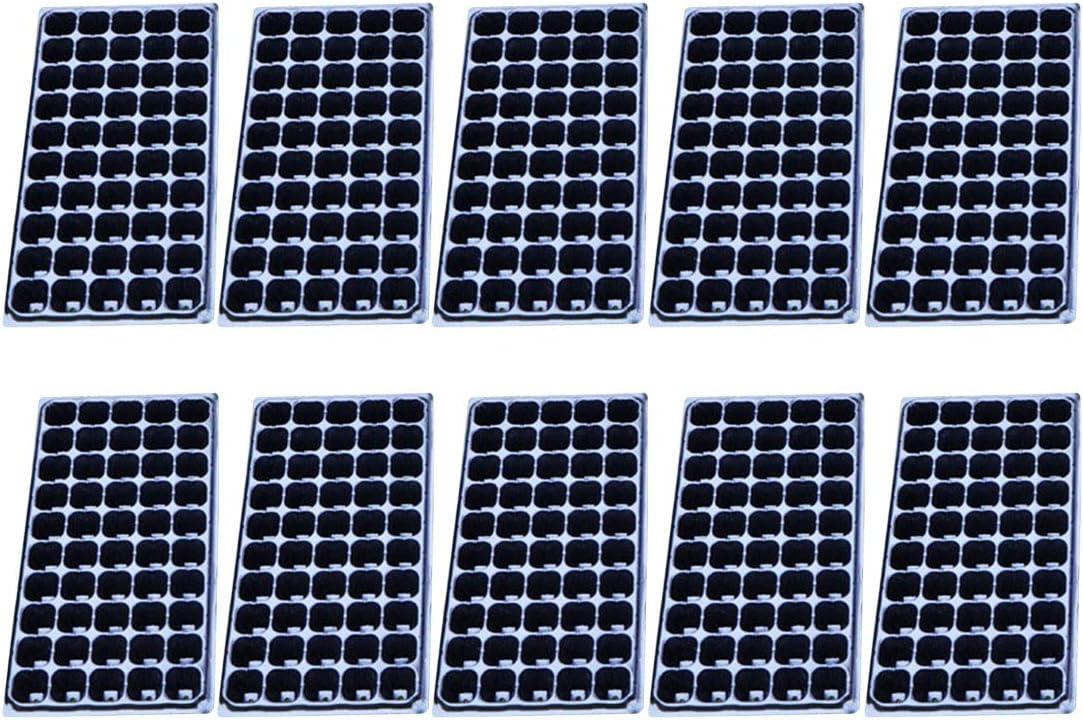 YAKOK bandejas de semillas, 10 unidades de 128 celdas para semillas de germinador de semillas