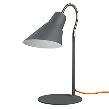Amazoncom Wild Wood Gooseneck Desk Lamp Concrete Grey Home