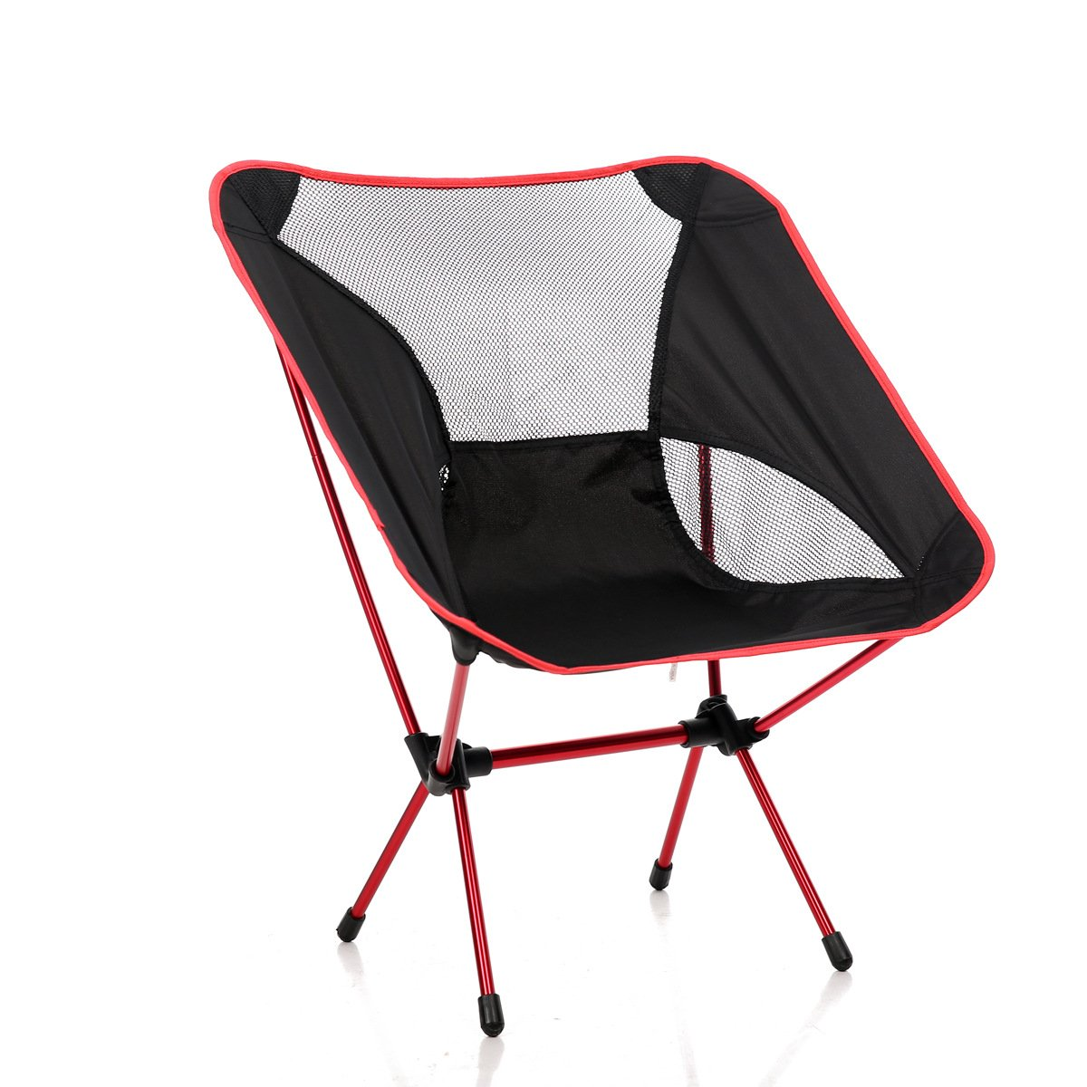 cotoxo Portable Folding Camp椅子Ultralight Backpacking Travel Chair with Carryバッグ、コンパクト& Heavy Duty forキャンプピクニックビーチ祭ハイキング釣りアウトドア活動 B077SQCJ28  レッド