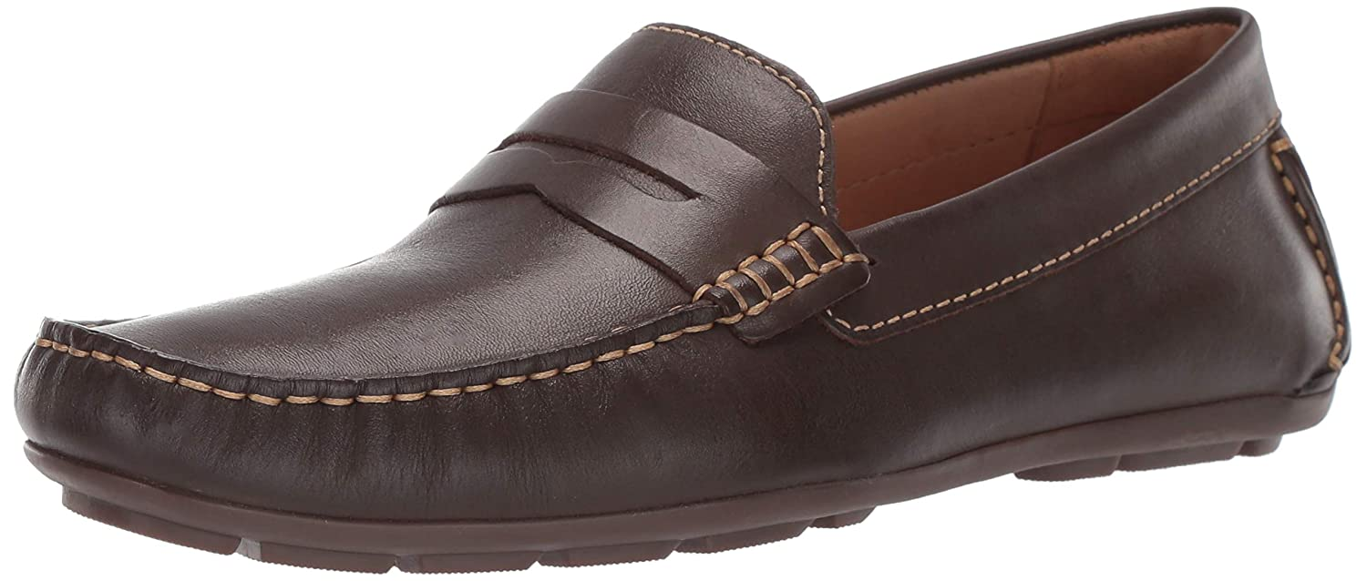 Brown Napa Driver Club USA Mens Mens Genuine Leather Made in Brazil Hollywood Loafer Loafer