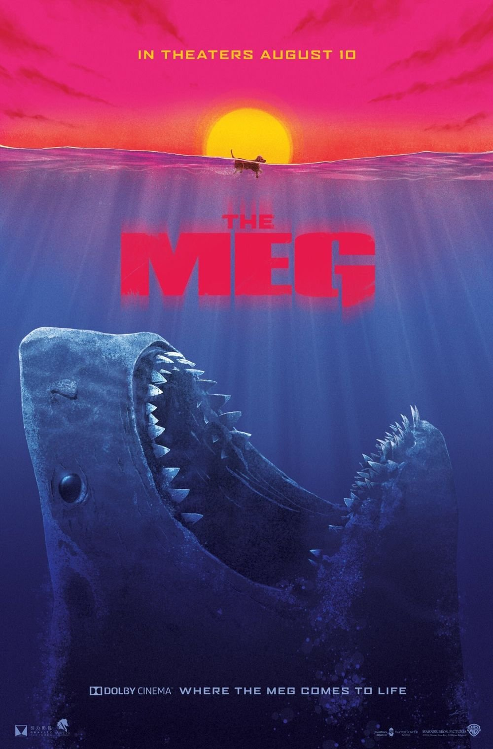 Poster The Meg Movie 18 x 28 Inches