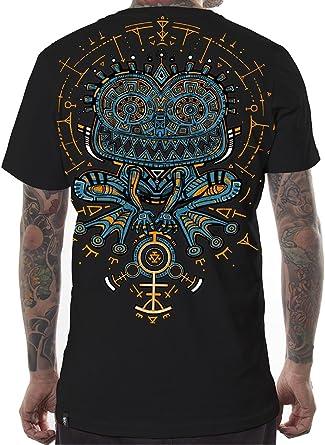 Camiseta psicodélica Estampada Psycho Toad con Sapo hipnótico en Trance - Ropa Urbana para Hombre: Amazon.es: Ropa y accesorios