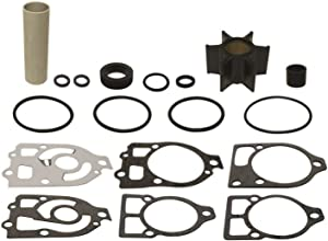 GLM Water Pump Impeller Kit for Mercury & Mariner Plastic Water Pumps 65-225 hp Mercruiser #1 R MR Alpha 1 1990 & Earlier Rplcs 18-3217 46-96148A5 Read Item Description for Exact Applications