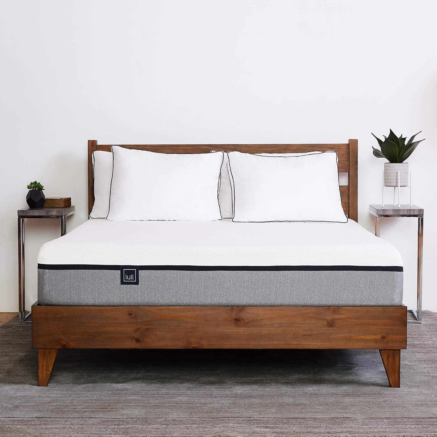 SLEEPLACE 14 Inch ST-3000 Ultra 3 Inch Wood Slat Bed Frame, Twin