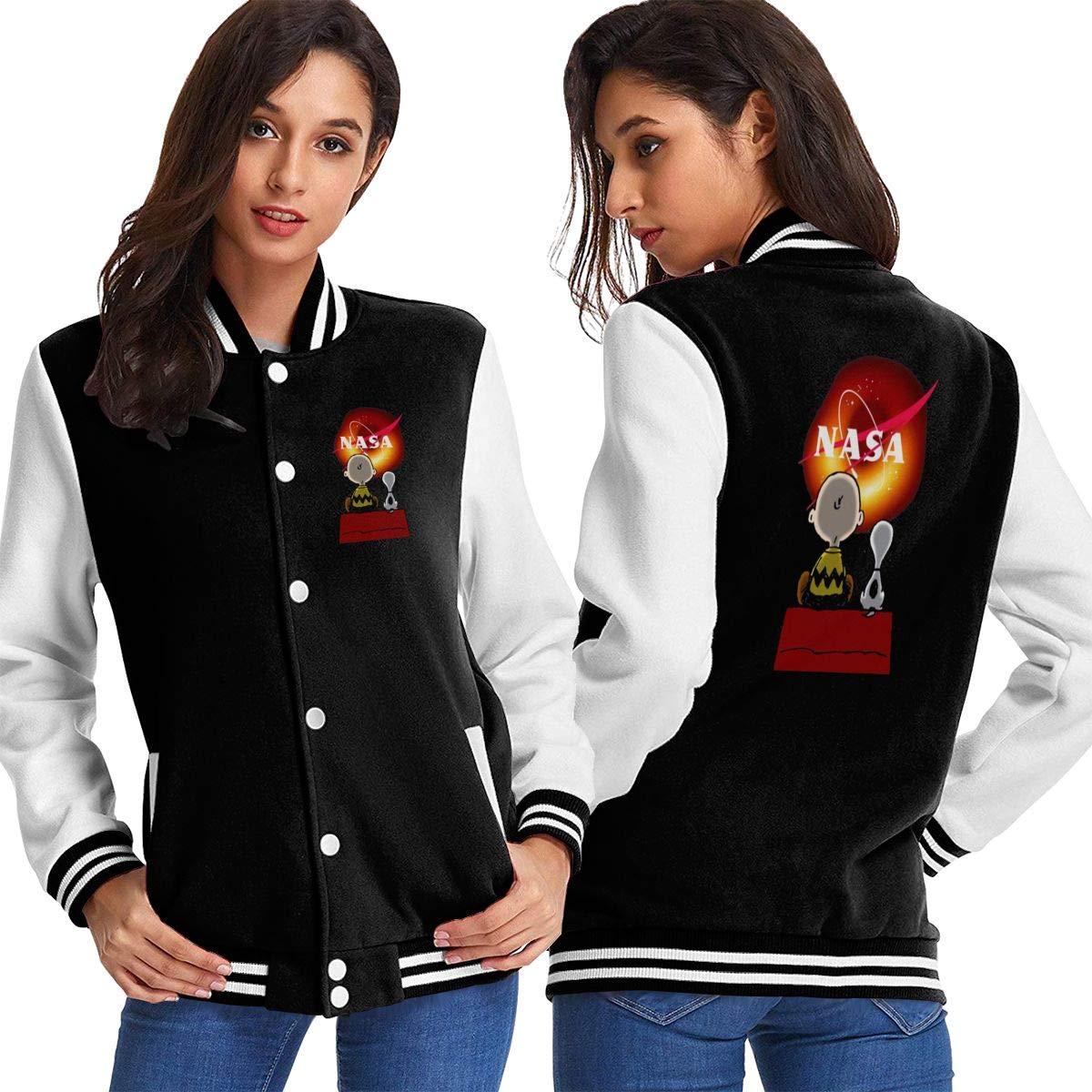 Womens NASA Black Hole M87 Snoopy Dog Jacket Sport Coat