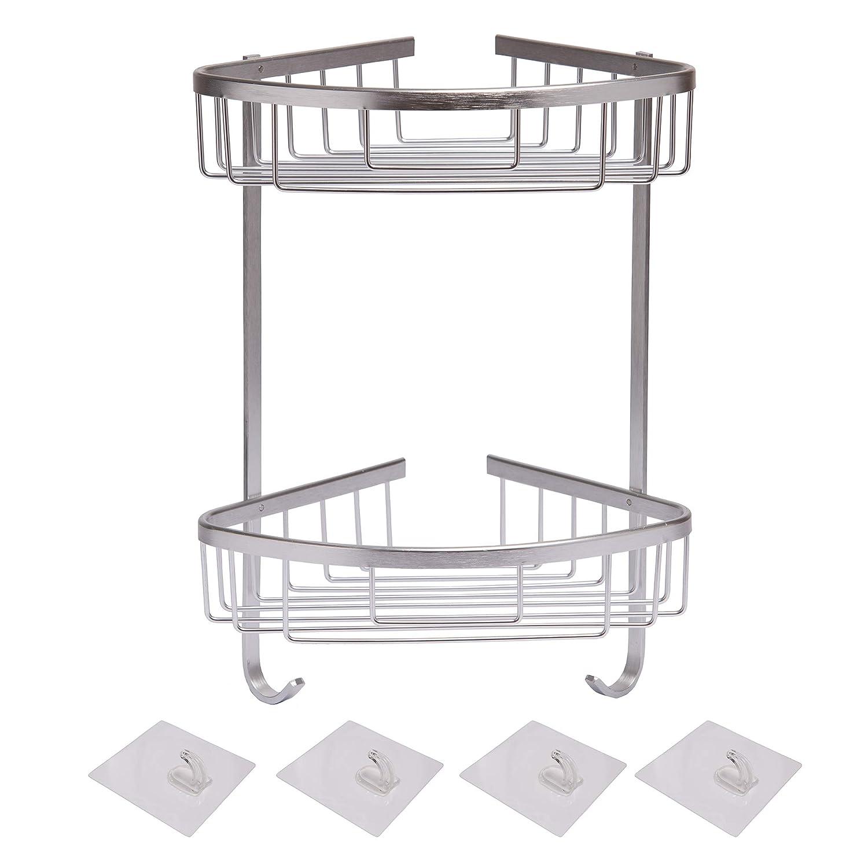 mDesign – Organizador de ducha para colgar – Práctico estante para ducha de acero  inoxidable – 465b57dd23c6