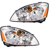 Driver and Passenger Halogen Headlights Headlamps Replacement for Nissan 260603Z626 260103Z626