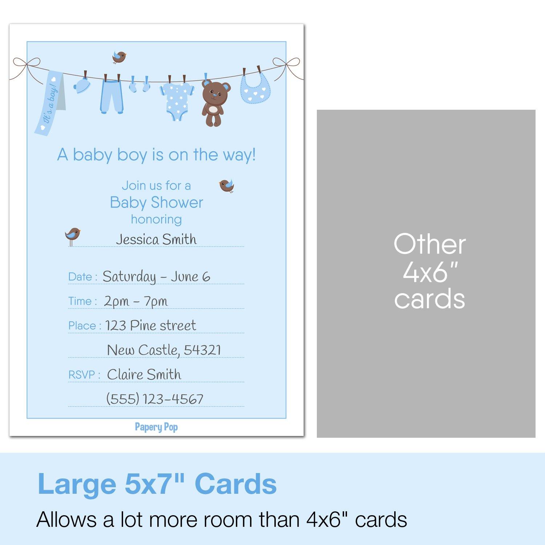 Amazon.com: 30 Baby Shower Invitations Boy (with Envelopes) - Baby ...