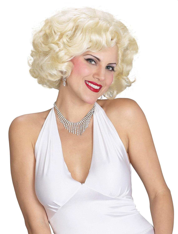 Amazon.com  UHC Marilyn Monroe Movie Star Blonde Bombshell Wig Halloween  Costume Accessory  Clothing 617c7d35f2a7