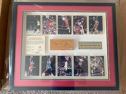 6e826d2e1d9 Image Unavailable. Image not available for. Color  Michael Jordan Framed  Auto Autograph Rookie 87-94 ...
