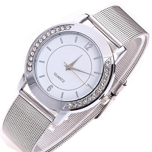 2acae661815 Amazon.com  Women s Fashion Casual Crystal Golden Stainless Steel Analog  Quartz Wrist Watch Retro Exquisite Luxury Classic Bracelet Watches for  Ladies ...