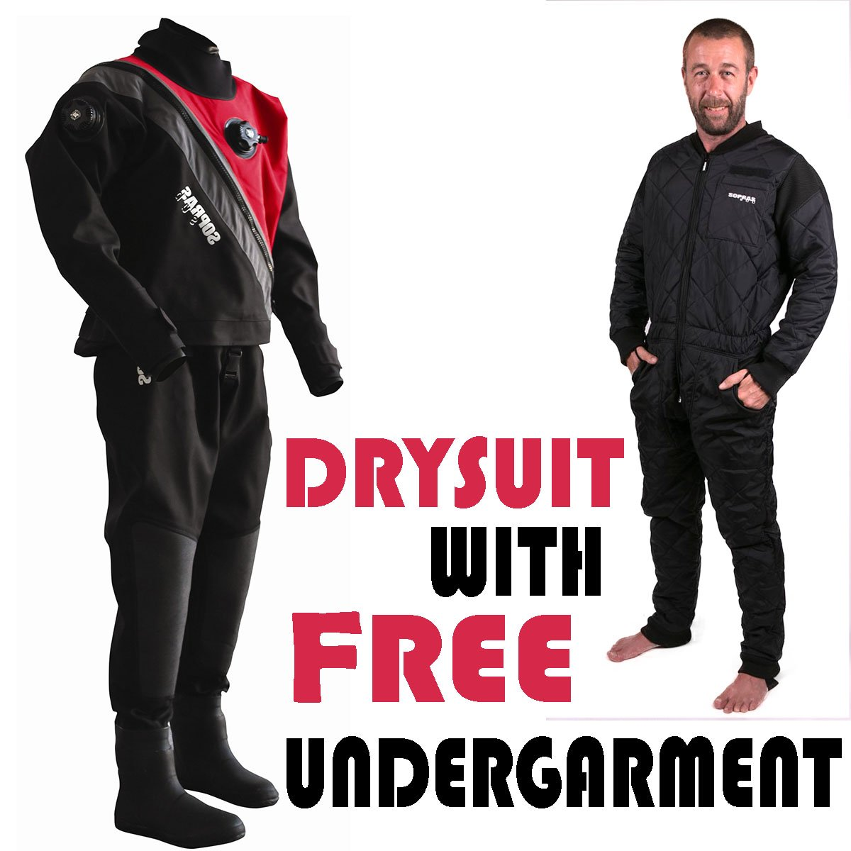 Sopras Sub Trilaminate Drysuit Size X-Small with Soft Boots Size 6 Technical Dry Suit DUI Cold Water Scuba