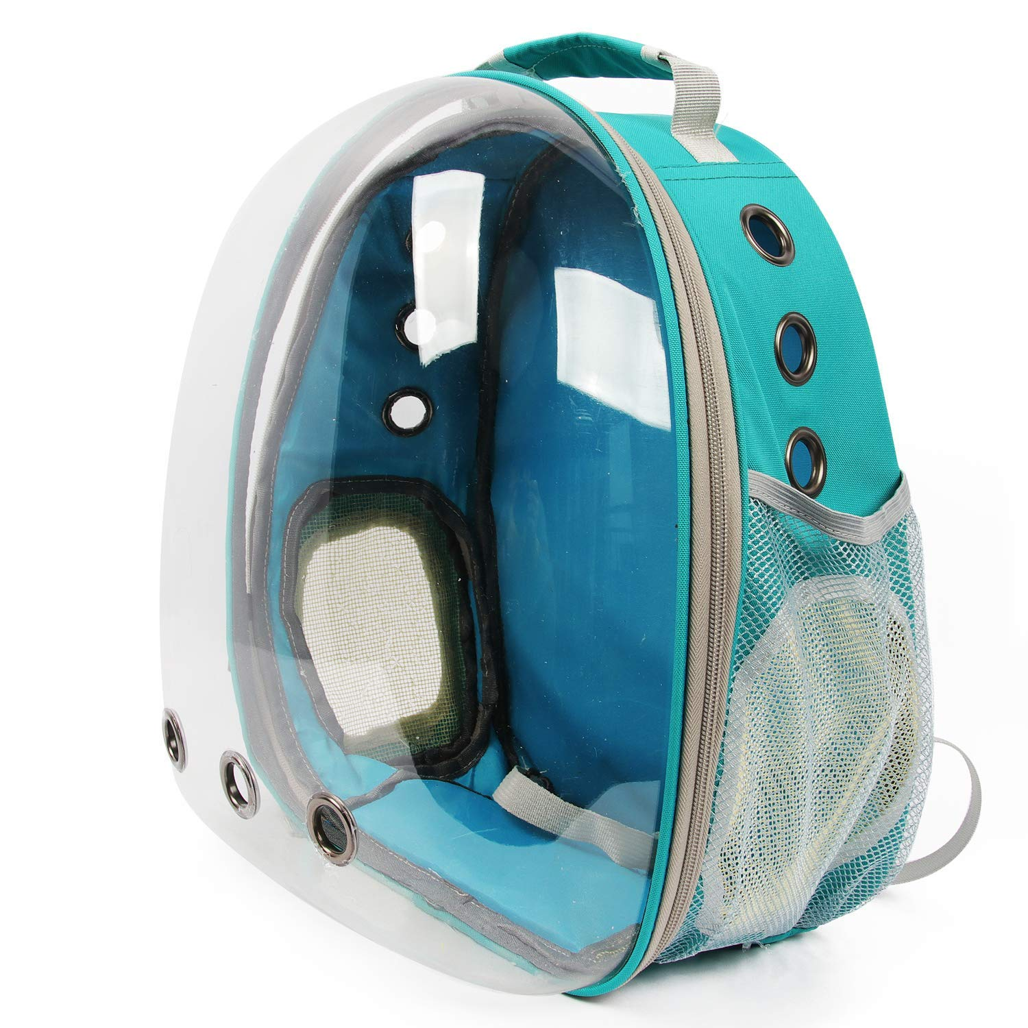 bluee Transparent and Breathable Carrier Backpack Like Space Capsule for pet Like cat and Dogs