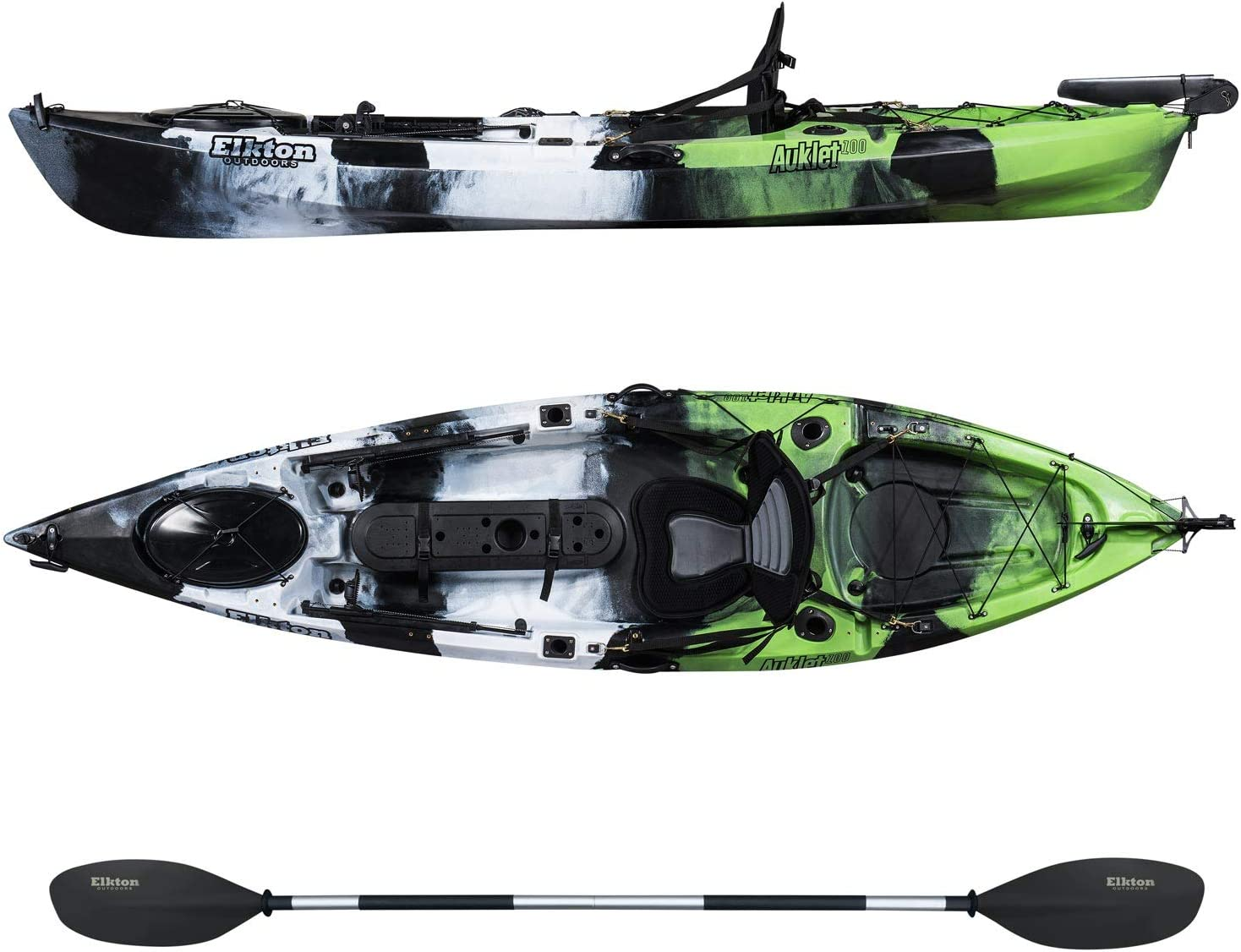 Elkton Auklet 120 Sit On Top Fishing Kayak